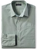 Classic Men's Big Long Sleeve Pattern Straight Collar Broadcloth Shirt-Pale Emerald Stripe