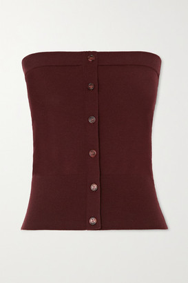 Sies Marjan Naila Strapless Stretch-merino Wool Top - Burgundy