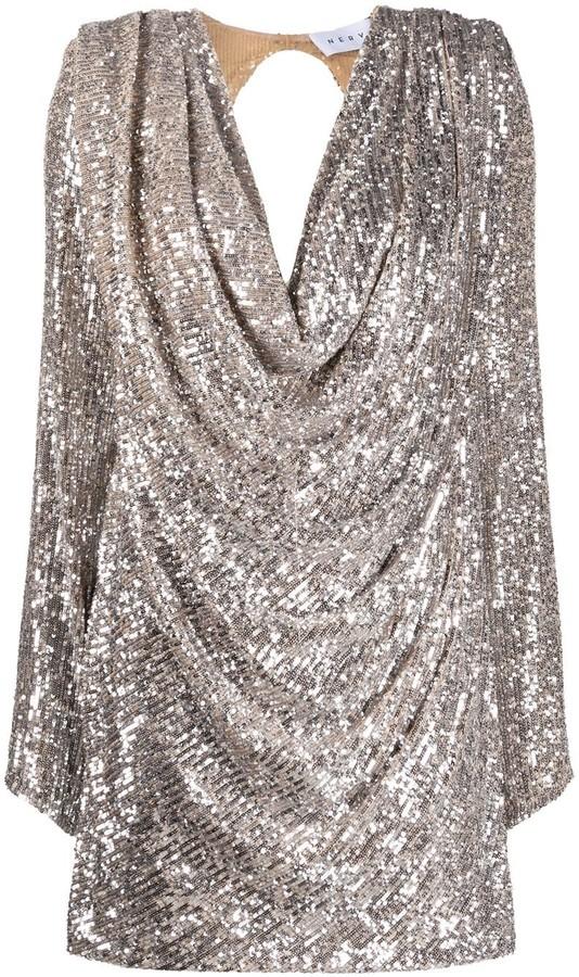 NERVI Carol sequin embroidered dress