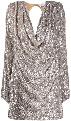 NERVI Carol sequin embroidered dress