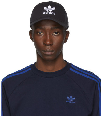 adidas Black and White Trefoil Cap