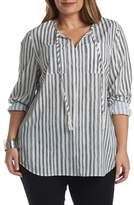 Tart Murphy Split Neck Shirt (Plus Size)