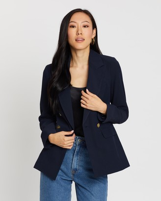 Dorothy Perkins Glossy Double-Breasted Blazer