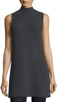 Theory Embree Charmant Mock-Neck Sleeveless Sweater, Dark Charcoal