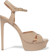 Halston Naomi leather platform sandals