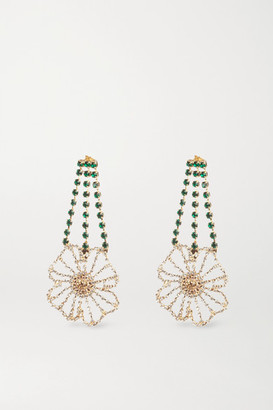 Rosantica Gold-tone Crystal Earrings - one size