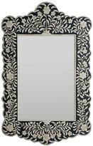 Embossed Bone Flower Mirror