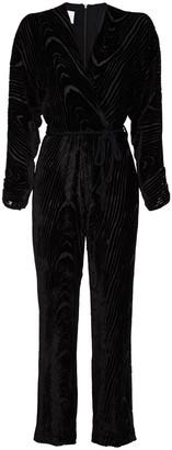 Nanushka Jax Wrap-effect Devore-velvet Jumpsuit
