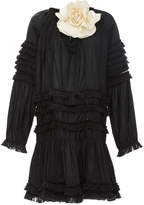 Cynthia Rowley Fringe Ruffle Dress