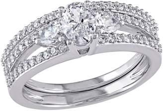 Affinity Diamond Jewelry Affinity 1.10 cttw Diamond Bridal Ring Set, 14K