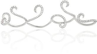 Foulis Quartet 18K White Gold 4 Finger Ring With 1.39Ct Diamond