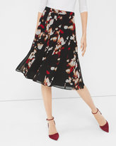 White House Black Market Printed Full Skirt