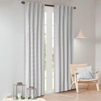 Madison Home USA Maize Cotton Jacquard Pom Pom Window Curtain