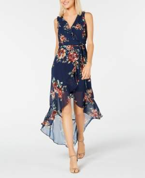 BCX Juniors' High-Low Floral Maxi Dress