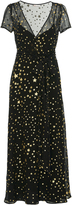 RED Valentino Star Print Silk Georgette Maxi Dress