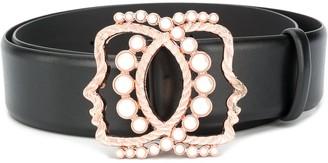 VIVETTA Pearl-Embellished Belt