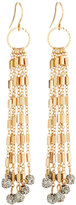 Lydell NYC Multi-Link Fireball Drop Earrings, Gray