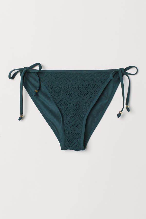 H&M Tie Bikini Bottoms - Turquoise