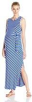 Ripe Maternity Women's Maternity Side Tie Maxi Dress