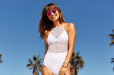 aerie Crochet One-Piece Swimsuit