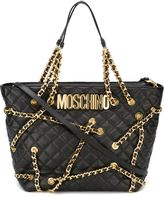 Moschino chain embellished tote