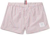 Thom Browne Striped Cotton-Poplin Boxer Shorts