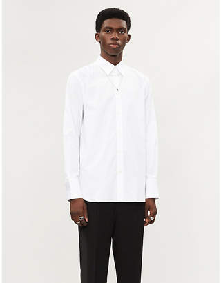 Givenchy Logo-print formal-fit cotton shirt