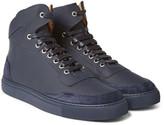 Harrys Of London - Mr. Jones Suede-panelled Leather High-top Sneakers