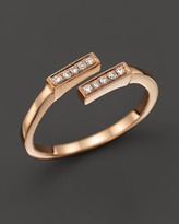 Bloomingdale's Dana Rebecca Designs 14K Rose Gold and Diamond Double Bar Ring, .07 ct. t.w.