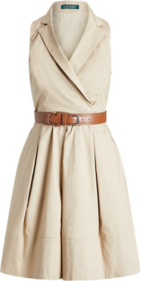 Ralph Lauren Cotton-Blend Sleeveless Dress