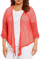 Ruby Rd. Plus Tie Front Sweater Cardigan