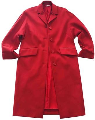 Miu Miu Red Cotton Coat for Women