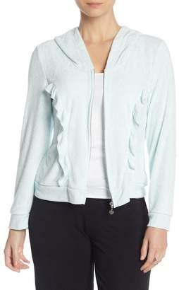 Betsey Johnson Hooded Front Zip Jacket