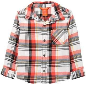 Joe Fresh Plaid Flannel Long Sleeve Top (Toddler & Little Boys)