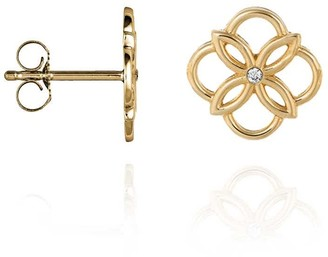 Perle de Lune Mini Daisy Ear Studs Gold