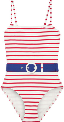 Solid & Striped The Nina Belted Printed Swimsuit