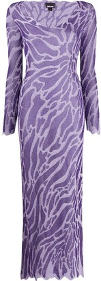 Just Cavalli abstract pattern long dress