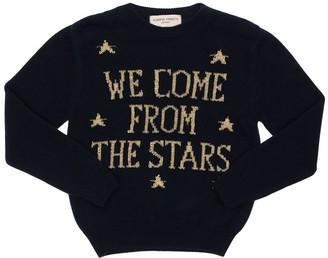 Alberta Ferretti Intarsia Knit Wool & Cashmere Sweater