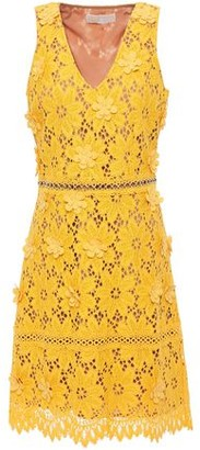 MICHAEL Michael Kors Floral-appliqued Corded Lace Mini Dress