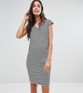 Mama Licious Mama.licious Mamalicious Stripe Cap Sleeve Bodycon Jersey Dress