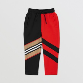Burberry Icon Stripe Detail Stretch Jersey Trackpants