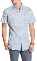 Stone Rose Geometric Umbrella Print Short Sleeve Shirt