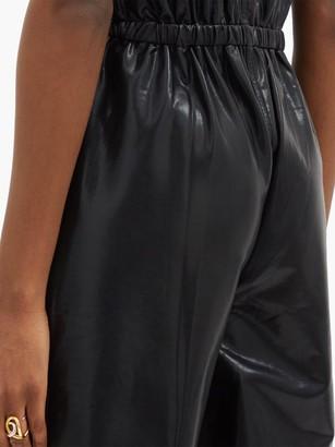 Norma Kamali Patch-pocket High-shine Jumpsuit - Black
