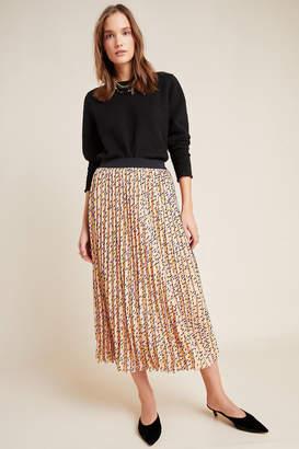 Eva Franco Victorine Pleated Midi Skirt