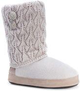 Muk Luks Women's Sofia Pointelle Knit Boot Slippers