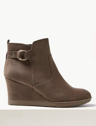 M&S CollectionMarks and Spencer Wide Fit Wedge Heel Ankle Boots