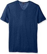 Slate & Stone Men's Stuart Short Sleeve V-Neck Linen Tee Shirt