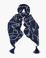 Chico's Nautical Tassels Scarf