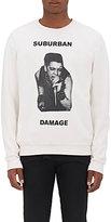 """Enfants Riches Deprimes Men's """"Suburban Damage"""" Cotton Fleece Sweatshirt-WHITE"""