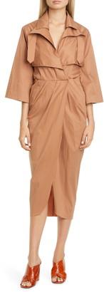 Johanna Ortiz Belted Midi Trench Dress